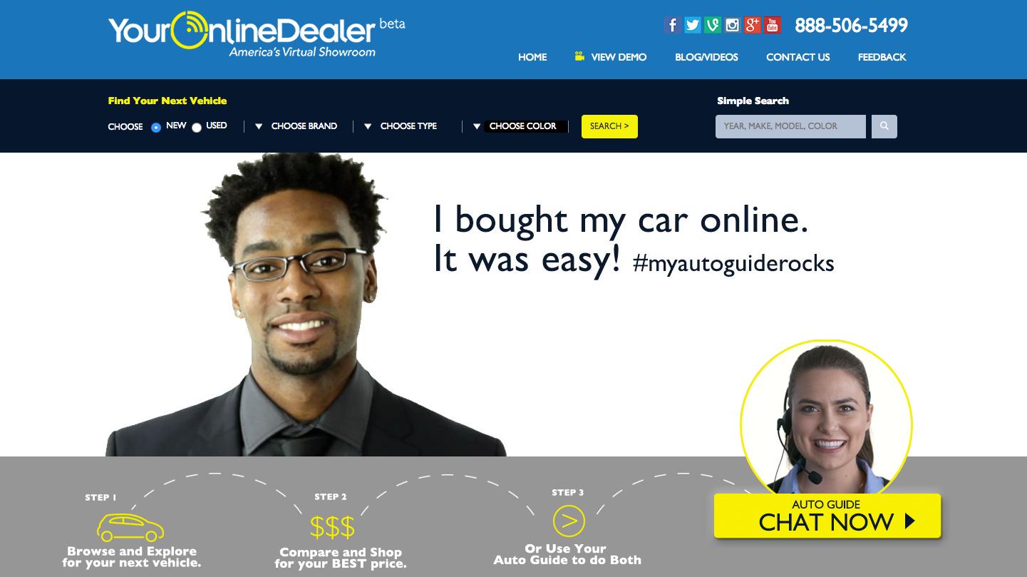 Webseite von YourOnlineDealer.com