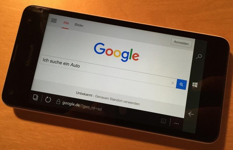 Suchverhalten beium Autokauf Google Suchmaske