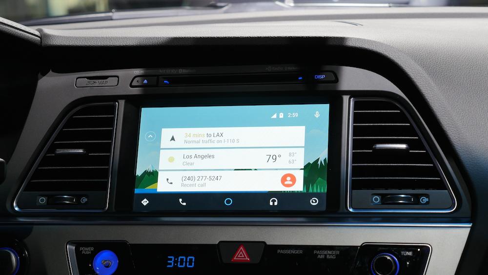 ANdroid Auto Bildschirm im Hyundai Sonata
